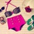 Wet N Wild High Waist Swimsuit - Leopard Print Top and Pink Bottoms - Smoky Mountain Boutique
