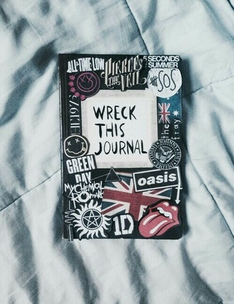 jewels notebook grunge all time low pierce the veil 5 seconds of summer the rolling stones green day my chemical romance one direction the 1975 nirvana band