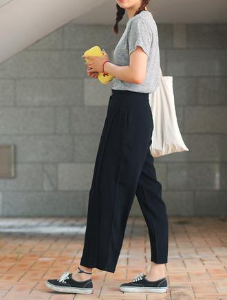 black pants loose fit loose pants