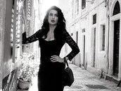 dress,little black dress,lace,knee length dress,bodycon dress,sexy,greece,greek,black,lace dress,slim fit dress,black bag,retro
