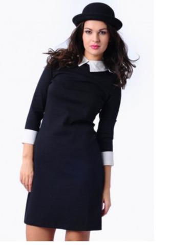 black little black dress collared dress peter pan collar hat black little dress white white collar formal
