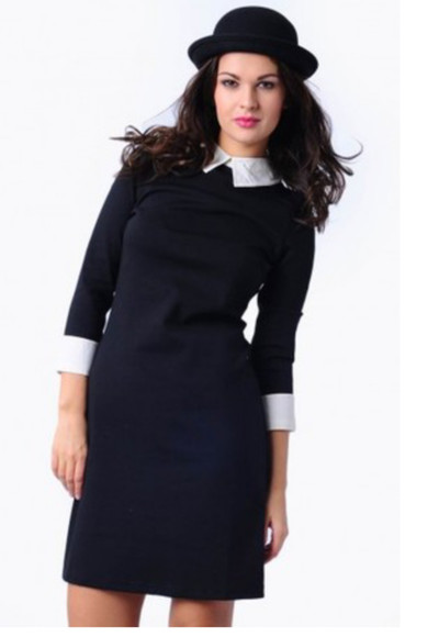 black white collar collar dress little black dress peter pan collar hat black little dress white formal