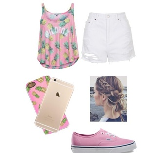 shirt short phone cover cover vans shoes pink white pineapple yellow