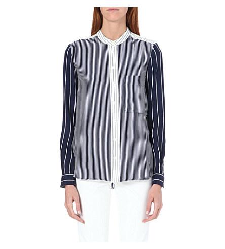 Lance silk stripe blouse