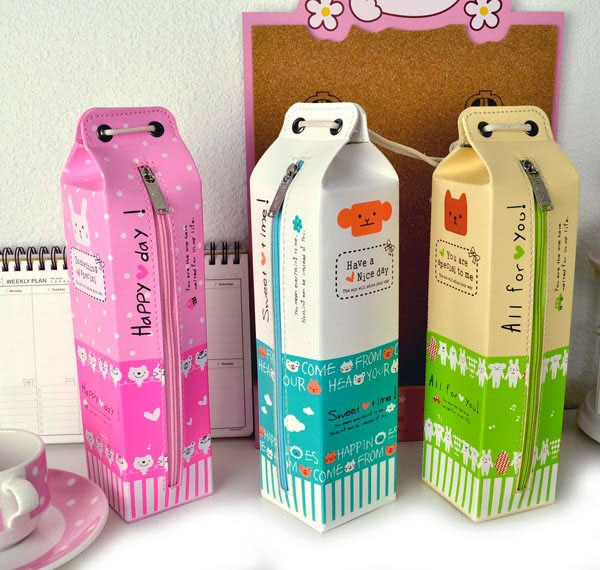 pencil case milk carton pencil pouch milk carton