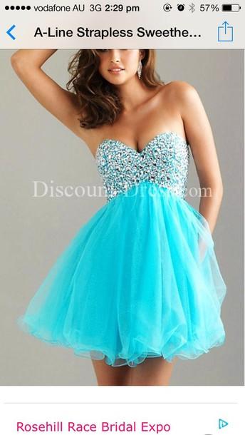 blue prom dress blue dress blue sequin dress glitter prom dress rhinstones