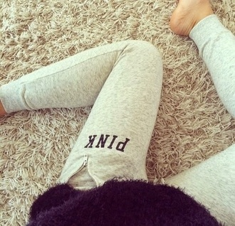 victoria's secret grey sweatpants pants leggings pink by victorias secret pink yoga pants grey grey leggings joggers sweatpants pink sweatpants vspink sweats grey victoria secret leggingss