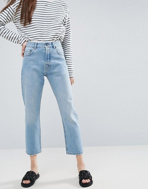 ASOS FLORENCE Authentic Straight Leg Jeans in Cambridge Light Mid Wash at asos.com