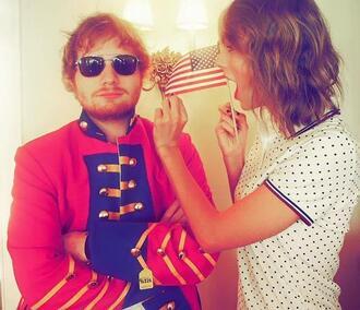 top polka dots polo shirt taylor swift ed sheeran instagram