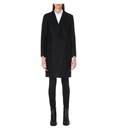 Oversized wool-blend coat