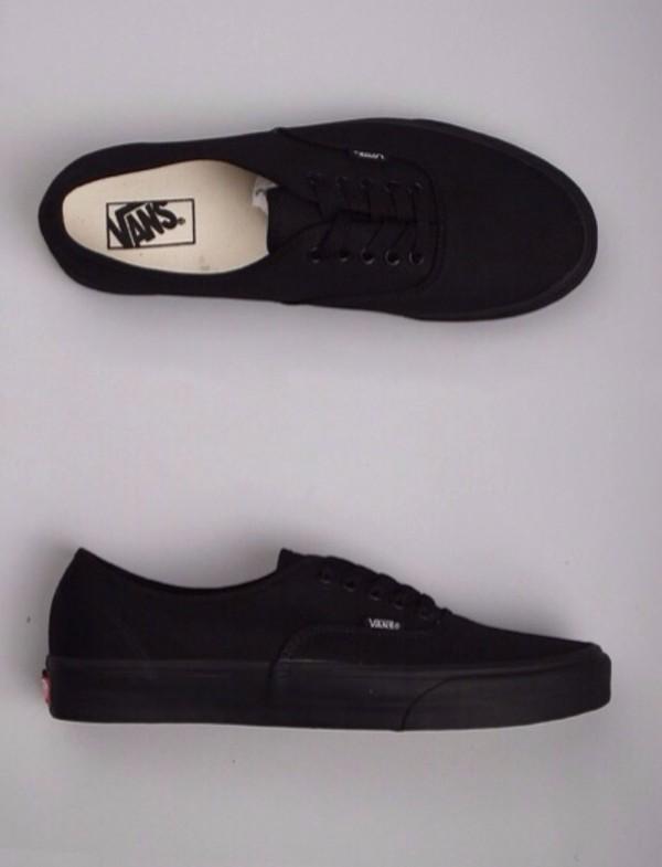 shoes vans black