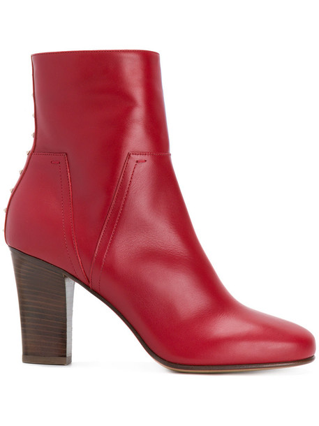 women love leather red shoes