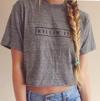 t-shirt killin it grey killin it t shirt