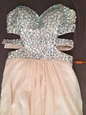 dress,prom dress,strass paillettes l