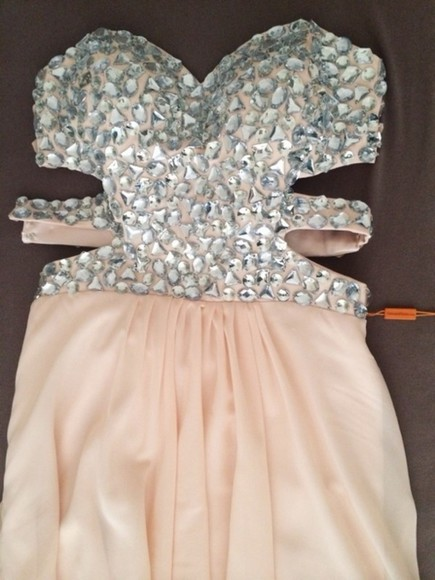 dress strass paillettes l prom dress