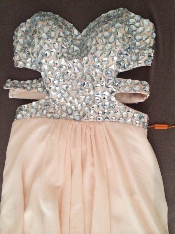 dress prom dress strass paillettes l