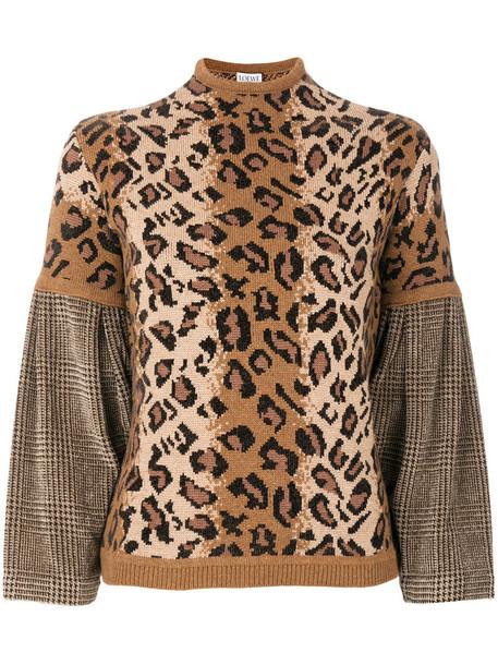 LOEWE sweater women wool brown