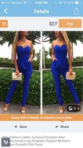 jumpsuit,blue jumpsuit,dark blue,blue,sexy,trendy,clubwear,clubwear suit,streetwear,style,girly