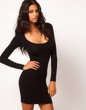 ASOS | ASOS Mini Bodycon Dress With Long Sleeves at ASOS