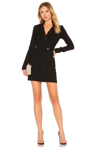 dress blazer dress black