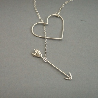 jewels heart arrow gold neckless