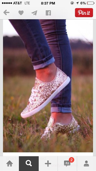 shoes glitter sneakers
