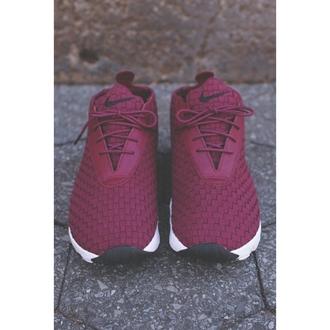 burgundy shoes nike nike shoes moroon nike running shoes low top sneakers purple nike sneakers maroon nike