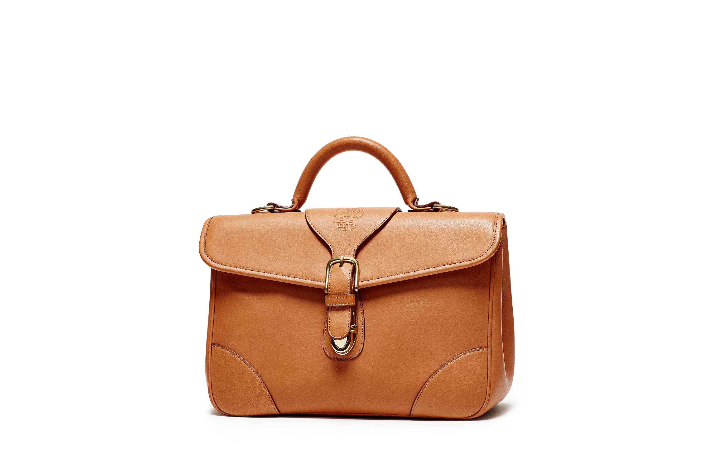 Leather Handbag | Tilbury No. 126 in Chestnut | Ghurka