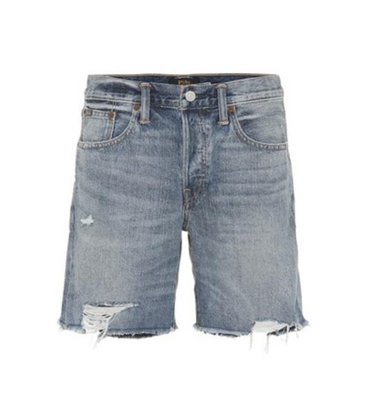 Polo Ralph Lauren Rylee denim shorts in blue