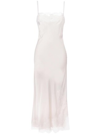 dress night dress long women lace nude silk