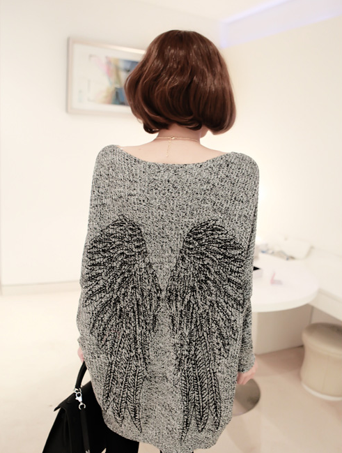 2013 14 Fall Winter Angel Wing Loose Long Sweater Knitwear | eBay