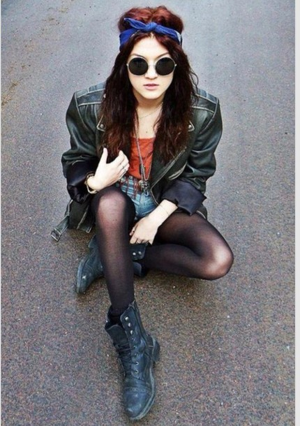 jacket bandana leather jacket boots