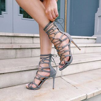 shoes grey heels suede lace sexy sexy heels stilettos going out fashion inspo gojane