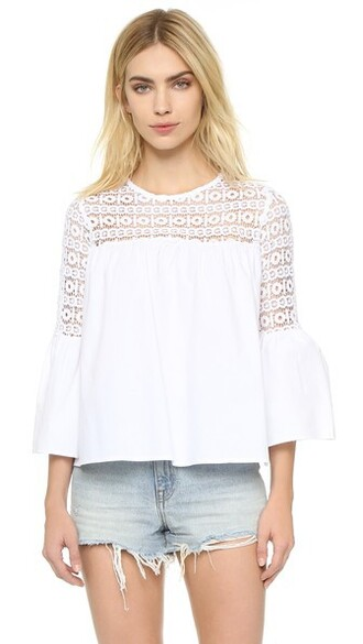 blouse boho white top