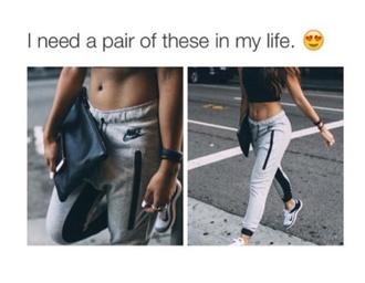 pants nike grey sweatpants sweatpants