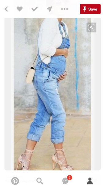 e867a7c2cb0 jumpsuit overalls denim denim overalls ripped ripped jeans ripped light  jeans boyfriend jeans rolled pants maternity