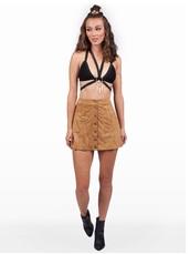 skirt,camel skirt,midi skirte