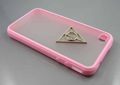 New iPhone 4 4S Deathly Hallows Harry Potter Hard Case Pink Silver Logo Cover | eBay