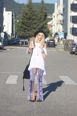 the black effect blogger bell bottoms hippie flare pants