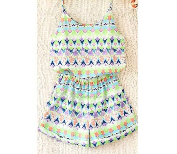 romper summer top colorful