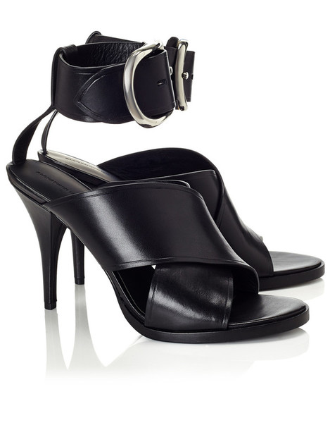 sandals leather black black leather