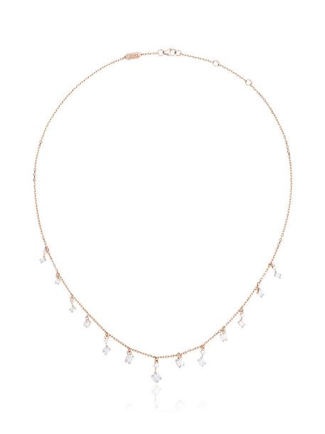 Suzanne Kalan rose gold rose women necklace diamond necklace gold purple pink jewels