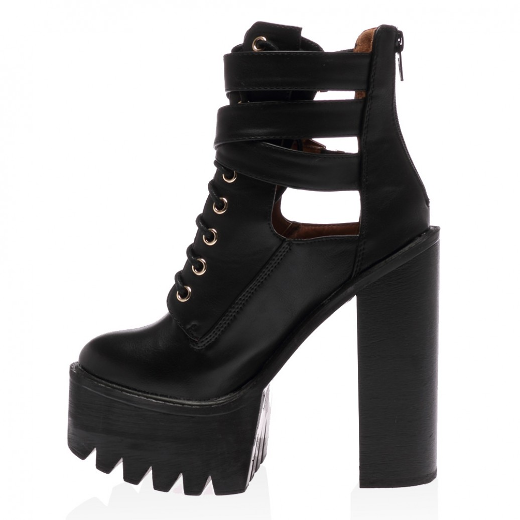 Myah black ankle boots