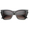 Jagged edge cat eye sunglasses at flyjane