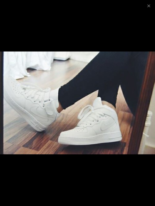 shoes nike white trill hipster cute