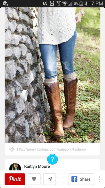 shoes boots cowboy boots brown boots tall boots