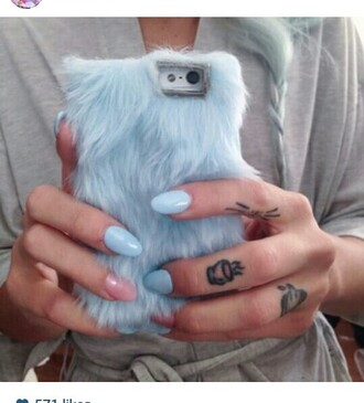 phone cover furry fuzzy fur phone case cool gray