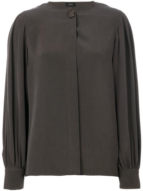 Joseph blouse women silk grey top