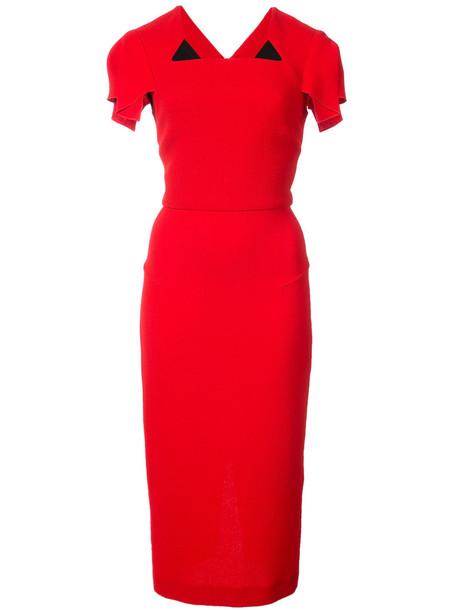 Roland Mouret dress women wool red