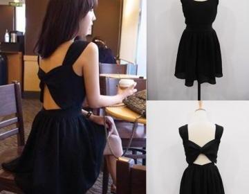 Cross Back Party Dress 022567 on Luulla